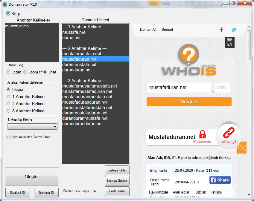 Otomatik Domain Oluşturma Programı - Create an Automatic Domain